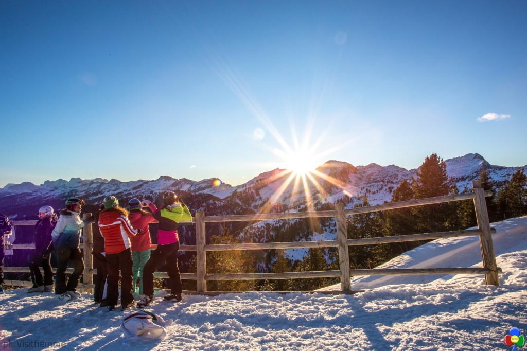Trentino Ski Sunrise Alpe Cermis ph visitfiemme 1024x682 Trentino Ski Sunrise: Tocchiamo l'alba con un dito