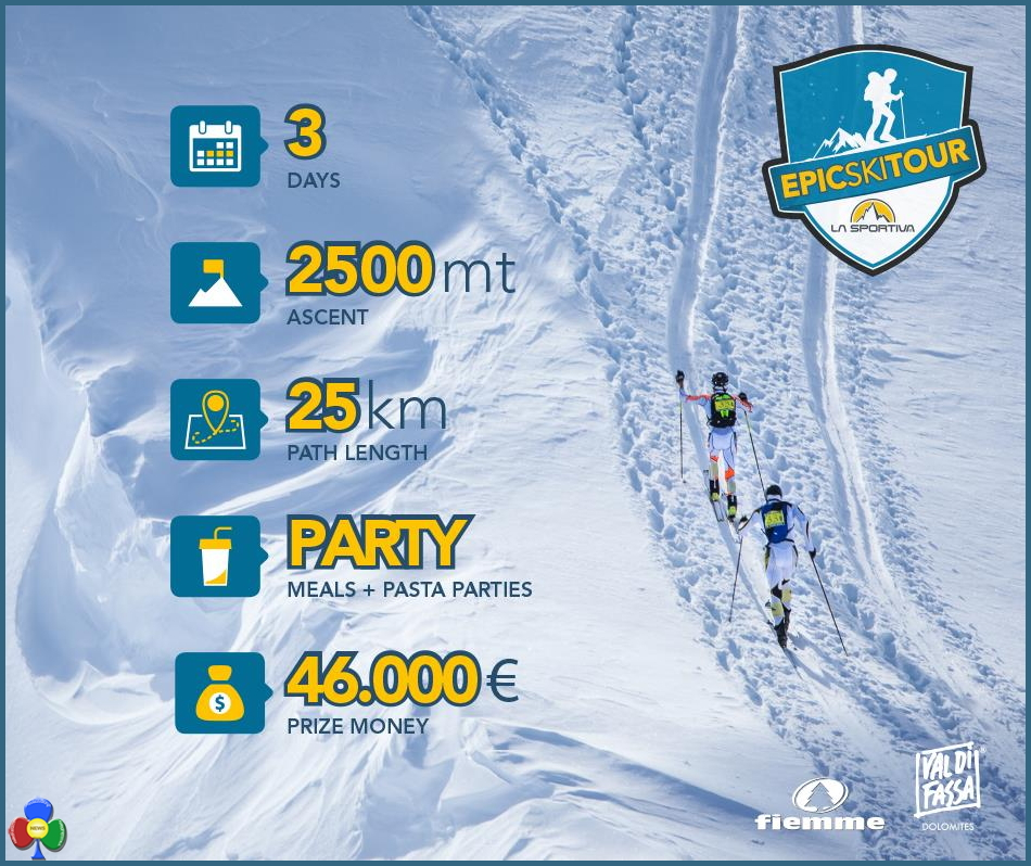 "epic ski tour table 1° ""La Sportiva Epic Ski Tour""  in rampa di lancio sul Cermis"