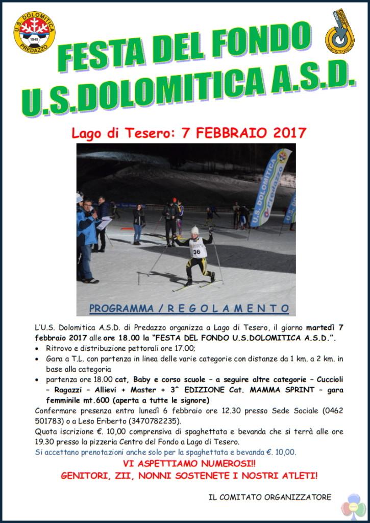festa dolomitica 2017 lago di tesero 725x1024 US Dolomitica, Campionati Italiani e Festa del Fondo