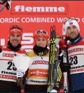 podio combinata nordica fiemme 2017