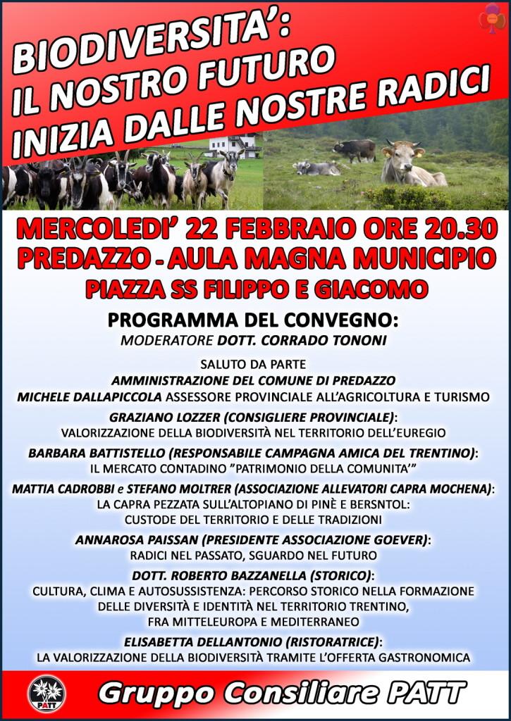 Programma convegno biodiversita predazzo 725x1024 Predazzo, Convegno sulla tutela delle Biodiversità