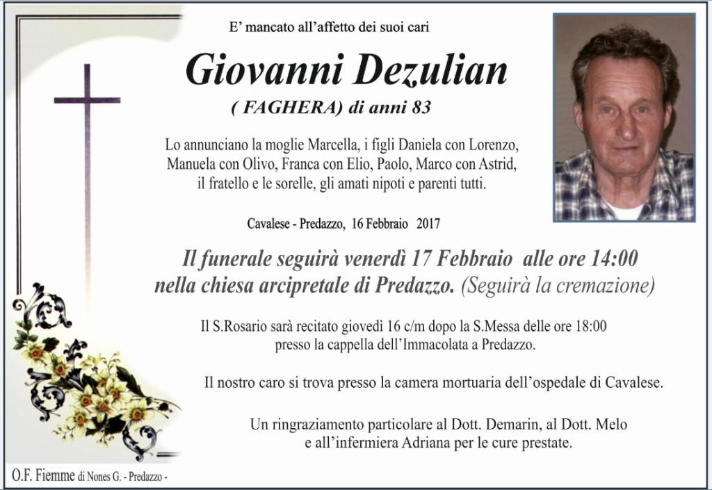 giovanni dezulian 1024x705 Necrologi, Natalina Gabrielli e Giovanni Dezulian