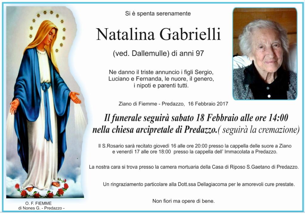 natalina gabrielli 1024x719 Necrologi, Natalina Gabrielli e Giovanni Dezulian