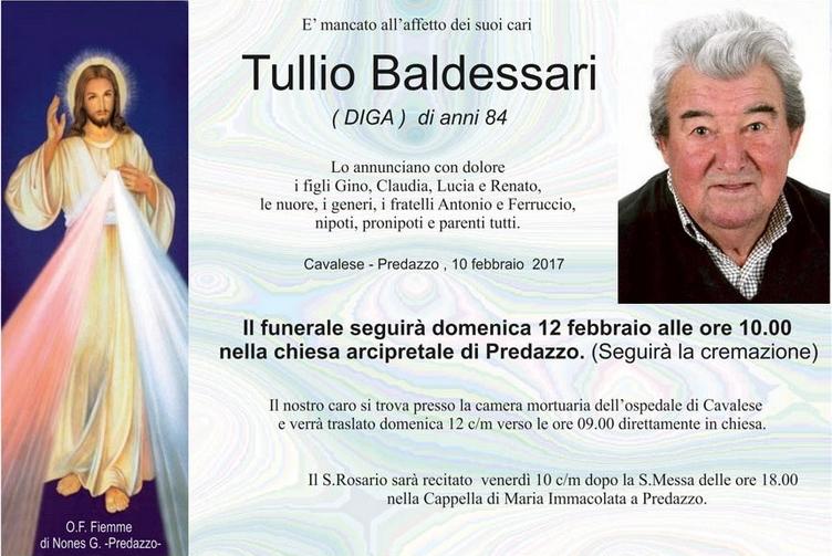 tullio baldessari Avvisi parrocchiali 12/19 febb. Necrologio Tullio Baldessari