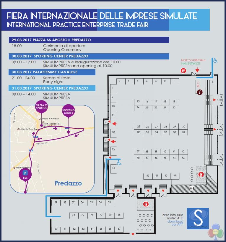 fiera internazionale imprese simulate predazzo piantina 2017 Predazzo, 9a Fiera Internazionale delle Imprese Simulate