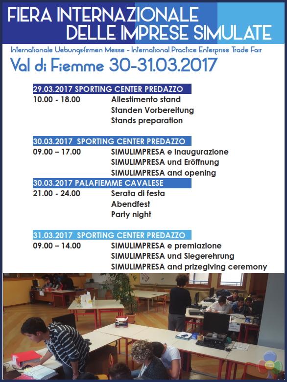 fiera internazionale imprese simulate predazzo programma 2017 Predazzo, 9a Fiera Internazionale delle Imprese Simulate