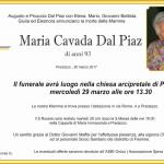 maria cavada dal piaz 150x150 Necrologio, Maria Antonietta Bosin in Stoffie