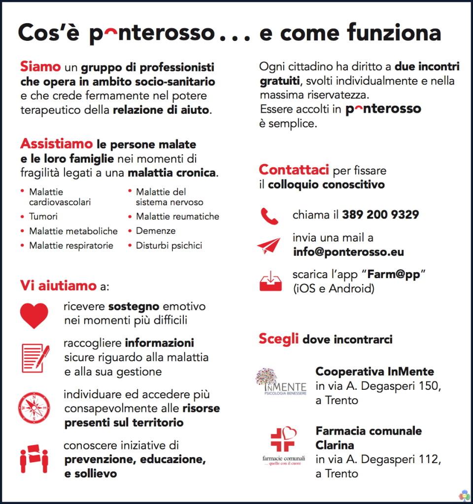 ponterosso trento malattiacronica 960x1024 Ponterosso, il servizio di ascolto e orientamento nella malattia