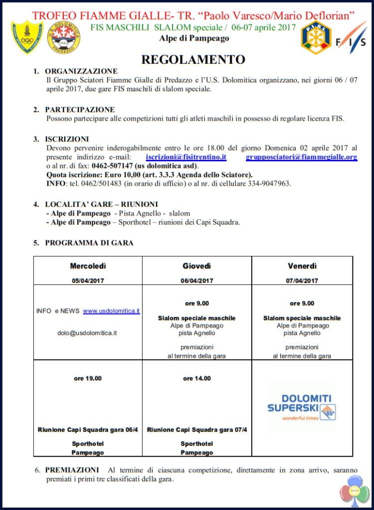 regolamenti 750x1024 Festa Sociale, Trofeo US Dolomitica e Trofeo Fiamme Gialle