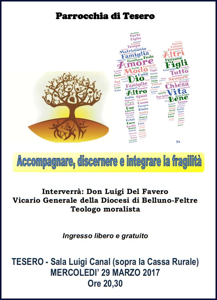 serata parrocchia tesero Avvisi Parrocchia 26.3/2.4 necrologio Vittorio Monzardo