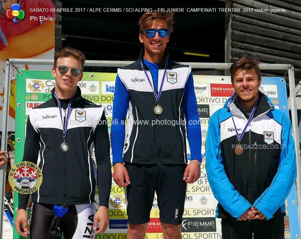 PODIO GIOVANI TRENTINI 2017 PH ELVIS3496 Assegnati i titoli TRENTINI 2017 di slalom gigante al Cermis