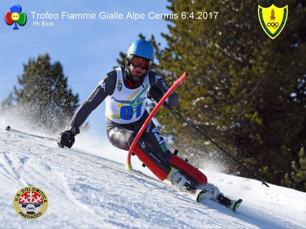 Trofeo Fiamme Gialle 2017 cermis slalom1 A Giordano Ronci lo slalom FIS del Cermis e il Trofeo Fiamme Gialle