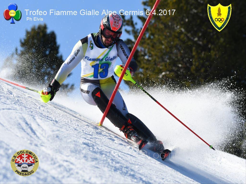 Trofeo Fiamme Gialle 2017 cermis slalom2 A Giordano Ronci lo slalom FIS del Cermis e il Trofeo Fiamme Gialle