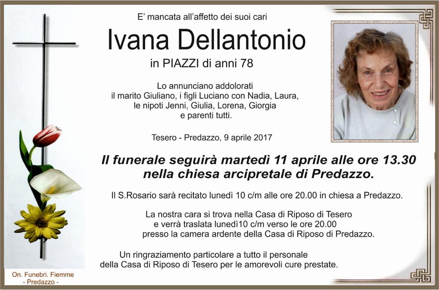 ivana dellantonio Necrologio Ivana Dellantonio in Piazzi