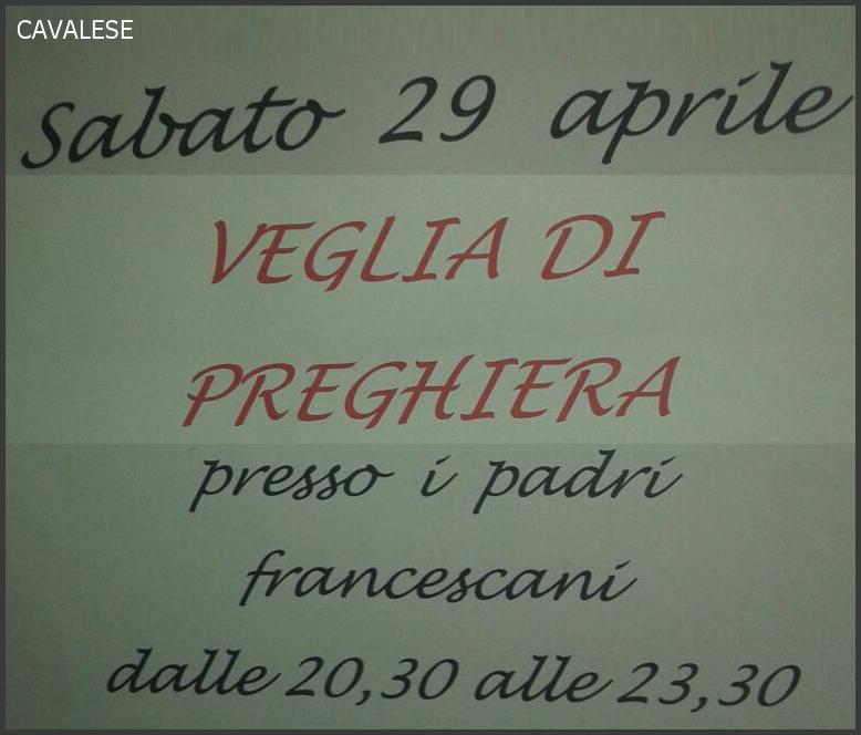 preghiera francescani cavalese Avvisi Parrocchie e Bollettino 1/2017