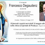 francesco degaudenz 150x150 Avvisi Parrocchia 26.3/2.4 necrologio Vittorio Monzardo