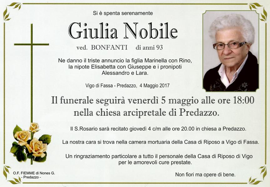 giulia nobile Necrologi Benjamin Dezulian   Giulia Nobile
