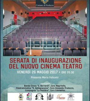 inaugurazione cinema comunale predazzo