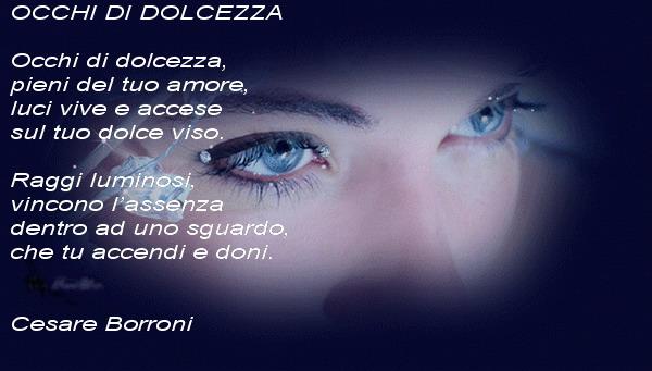 occhi donna Lultima poesia  di Cesare Borroni