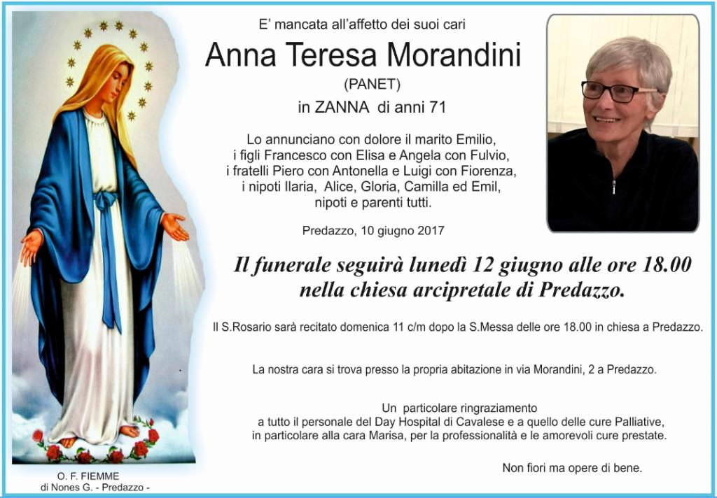 annateresa morandini 1024x712 Avvisi Parrocchia 11/18 giugno. Necrologio Anna Teresa Morandini