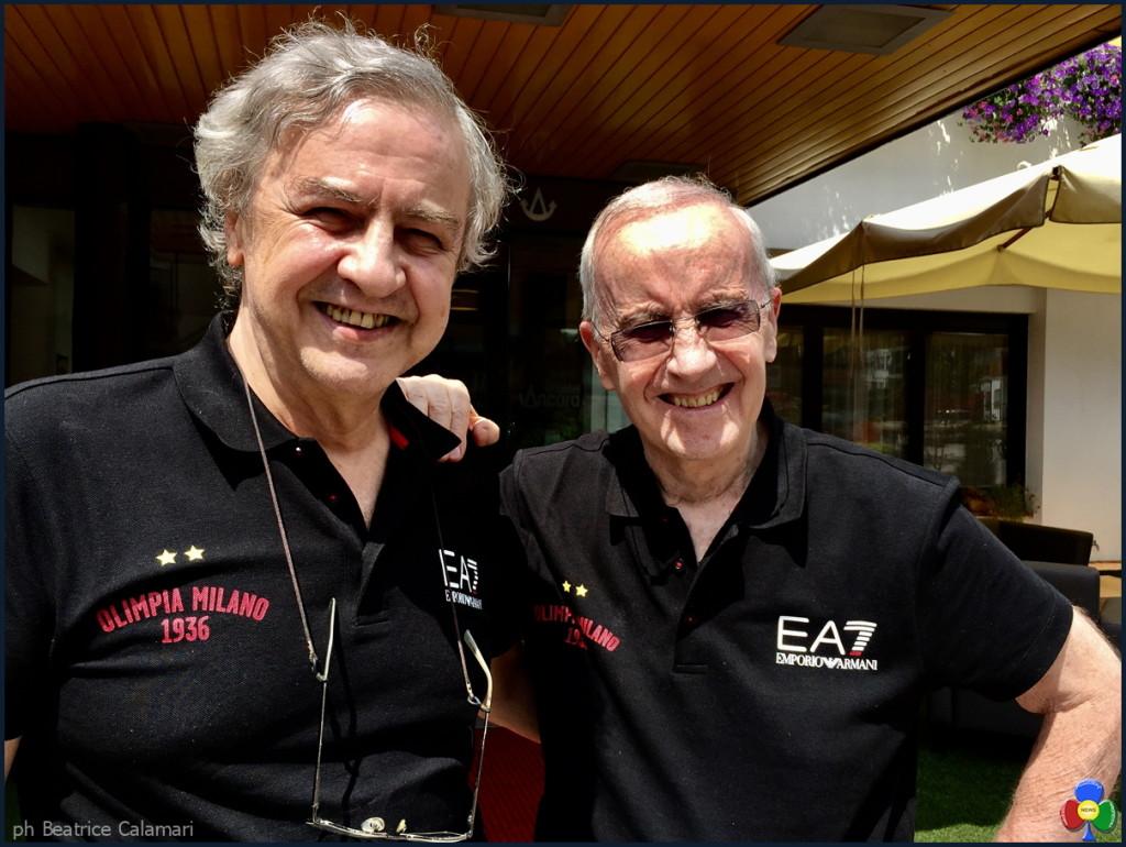 Franco Casalini e Dan Peterson a Predazzo Hotel Ancora Val di Fiemme 1024x770 L'Olimpia invia a Predazzo due assi del basket