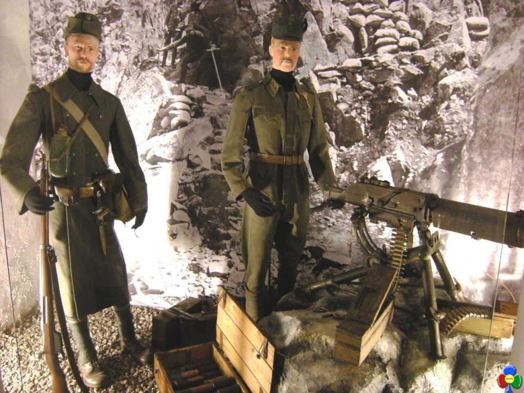 VILLA FLORA Postazione mitragliatrice austriaca 1024x768 1917, dalle mine di Colbricon al trenino di Fiemme