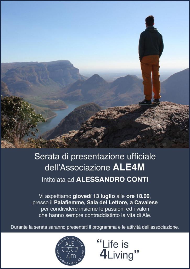 ale4m locandina 726x1024 ALE4M nasce lassociazione intitolata ad Alessandro Conti