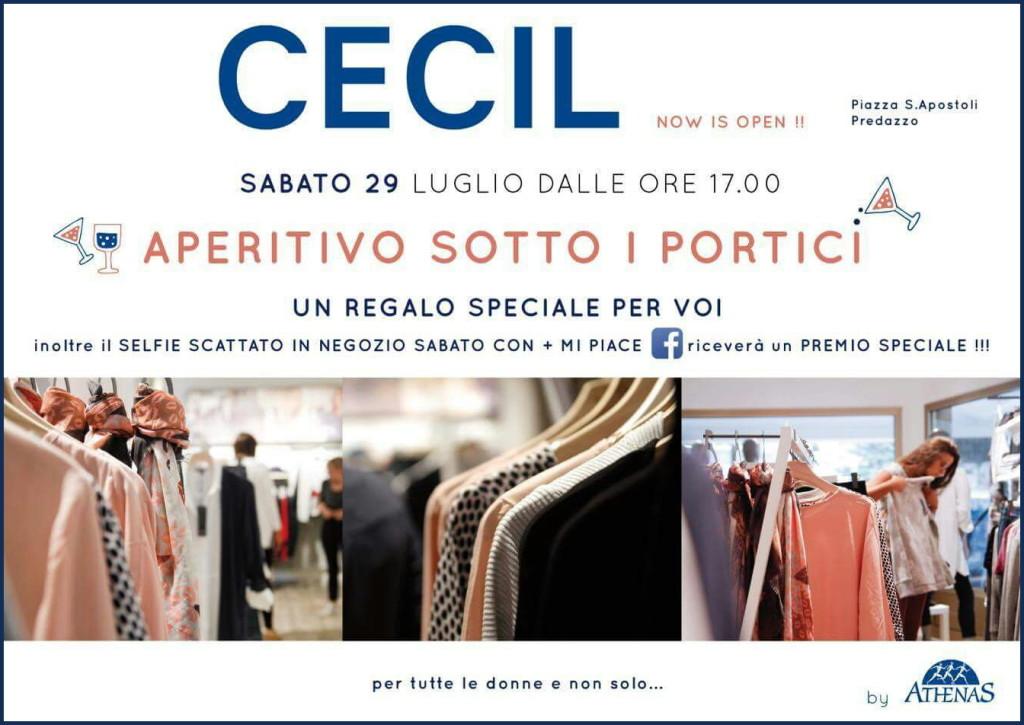 cecil negozio predazzo 1024x725 CECIL aperitivo con selfie sotto i portici a Predazzo