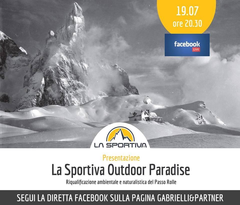 la sportiva outdoor paradise diretta streaming Passo Rolle, la lettera dei frequentatori sul progetto La Sportiva