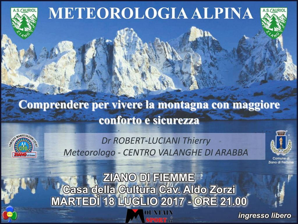 metereologia alpina ziano fiemme 1024x770 Serata sulla metereologia alpina con Robert Luciani Thierry