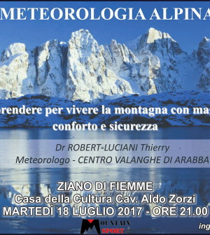 metereologia alpina ziano fiemme