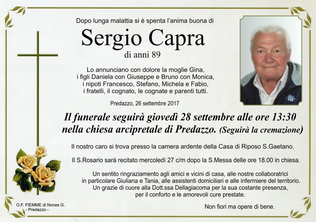 Capra Sergio 1024x721 Necrologio Predazzo, Sergio Capra e Livia Lastei