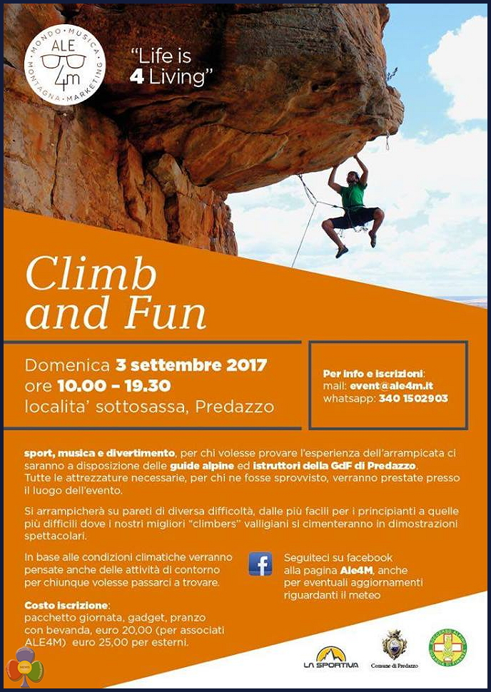 ale4m climb and fun 2017 Ale4M Climb and Fun a Predazzo loc. Sottosassa