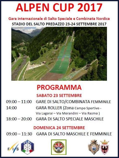 alpen cup predazzo Alpen Cup 2017 a Predazzo lunica tappa italiana