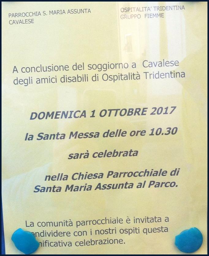 ospitalita tridentina parco cavalese Avvisi Parrocchie 1   8 ottobre 2017