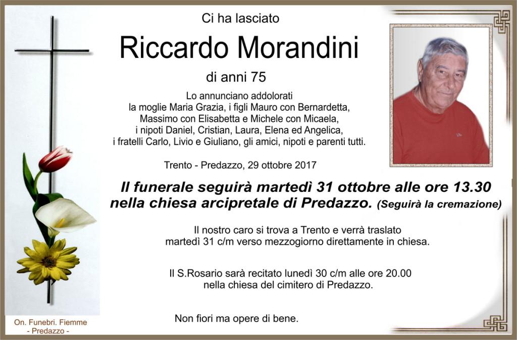 Morandini Riccardo 1024x675 Necrologio, Riccardo Morandini