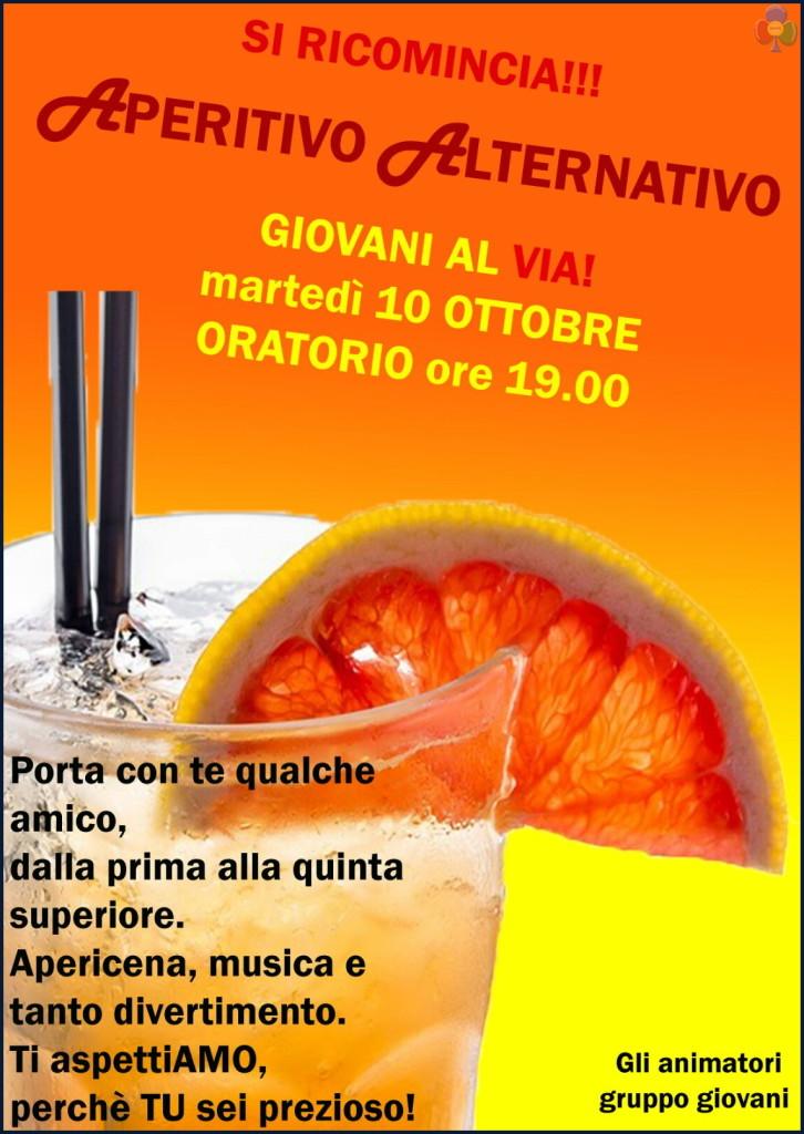 aperitivo giovani oratorio predazzo 726x1024 Avvisi Parrocchie, 8   15 ottobre. Giovani al Via