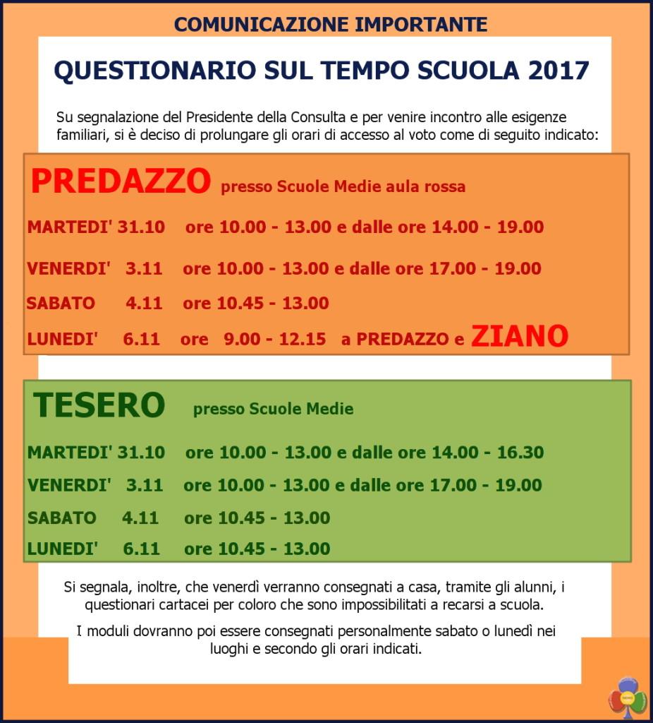 nuovi orari votazione tempo scuola 2017 predazzo tesero ziano panchià predazzoblog2 926x1024 Da rifare in cartaceo la consultazione sul Tempo Scuola