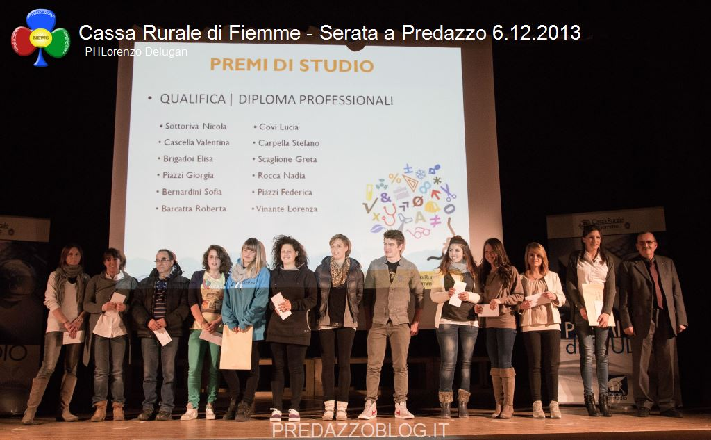 cassa rurale di fiemme serata predazzo 12.20138 1 La Cassa Rurale di Fiemme premia gli Studenti Meritevoli