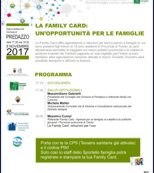 family card predazzo