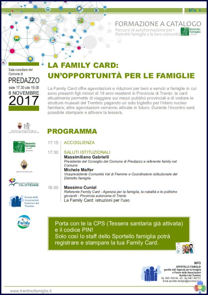 family card predazzo 723x1024 Family Card, presentazione a Predazzo l8 novembre