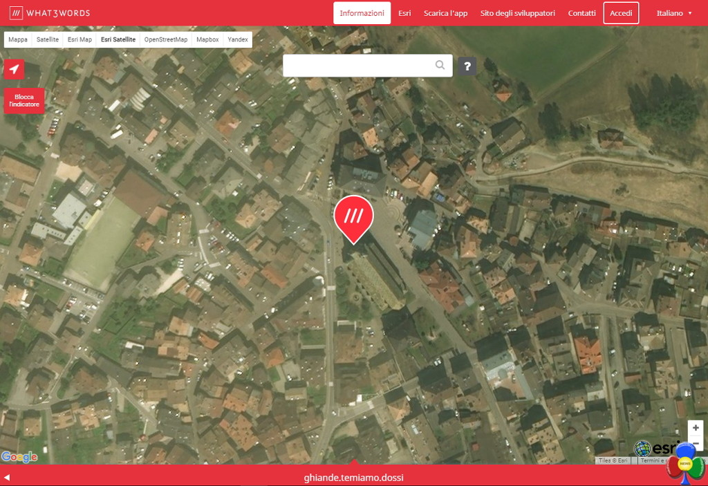 mappa predazzo what3words 1024x703 What3words le coordinate GPS in 3 parole
