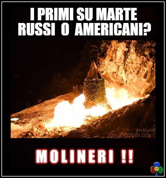 molineri primi su marte Fuochi di San Martin 11 novembre 2017 a Predazzo