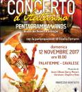 pentagramma winds concerto novembre 2017 cavalese