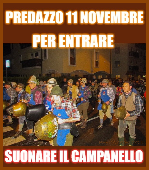 predazzo 11 novembre san martin Fuochi di San Martin 11 novembre 2017 a Predazzo