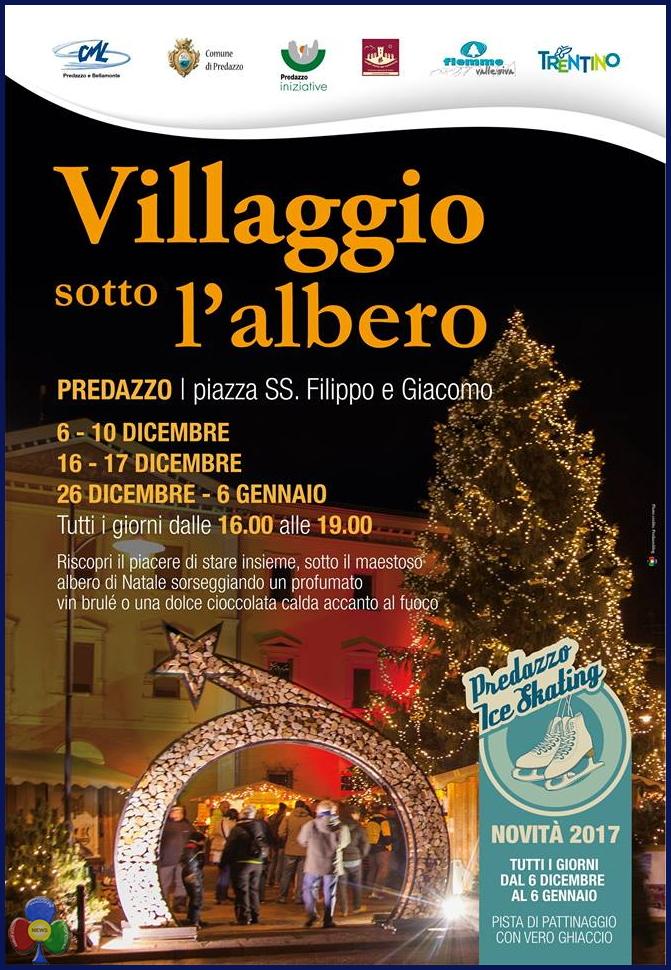 locandina villaggio sotto lalbero Villaggio e Pattinaggio sotto lAlbero a Predazzo
