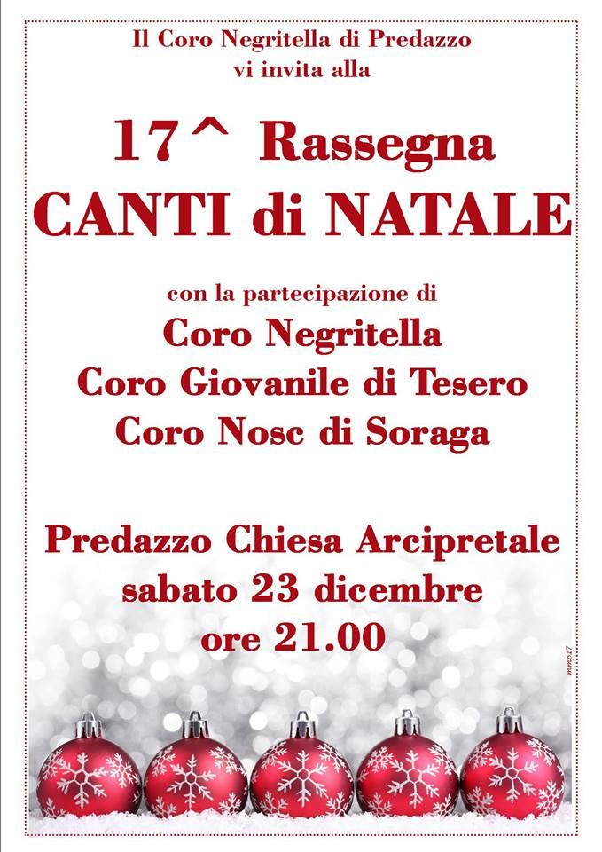 rassegna natale negritella Rassegna canti natalizi nella chiesa di Predazzo