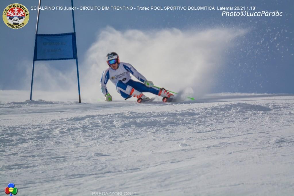 3 Florian Loriot 20 01 18 1024x683 Splendido SCI ALPINO FIS Junior al Latemar con US. Dolomitica