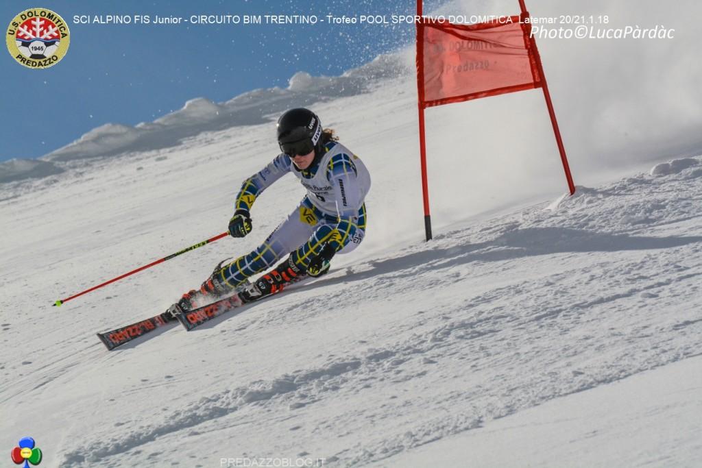 3a Anna Rech 20 01 18 1024x683 Splendido SCI ALPINO FIS Junior al Latemar con US. Dolomitica