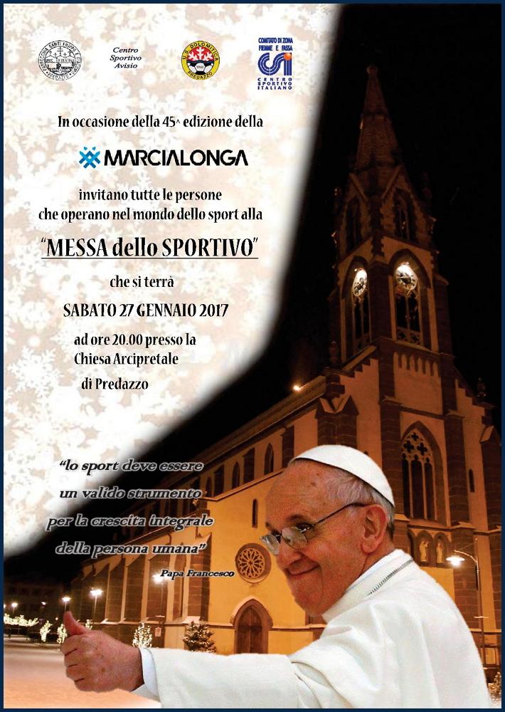 MessaDelloSportivo2018 Avvisi Parrocchie 21/28 gennaio